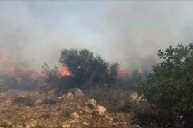 Wildfires in Jabal Akhdar continue as crews struggle for control with no fire truck