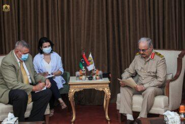 Haftar, UN Envoy discuss latest developments in Libya