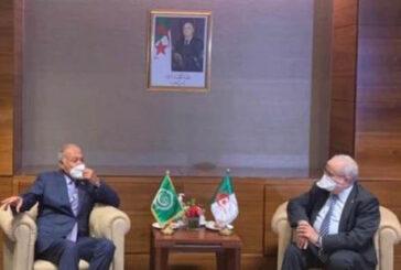 Aboul Gheit and Lamamra discuss developments in Libya