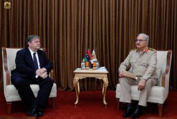 PHOTOS | Haftar meets with Spanish Ambassador to Libya