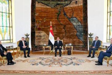 Egypt President receives Libya Prime Minister in Cairo
